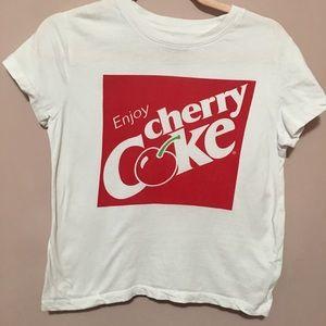 3/ $15 Cherry coke white tee size medium